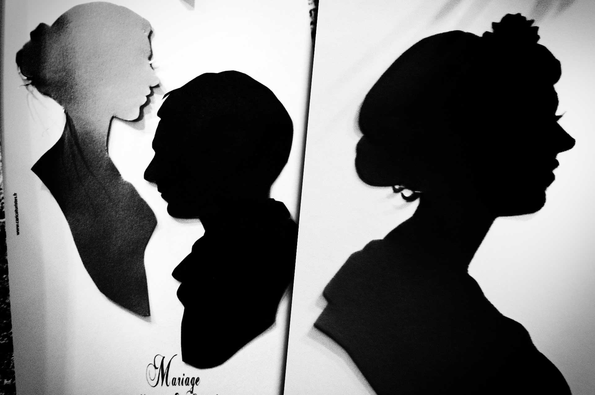 gros plan silhouettes